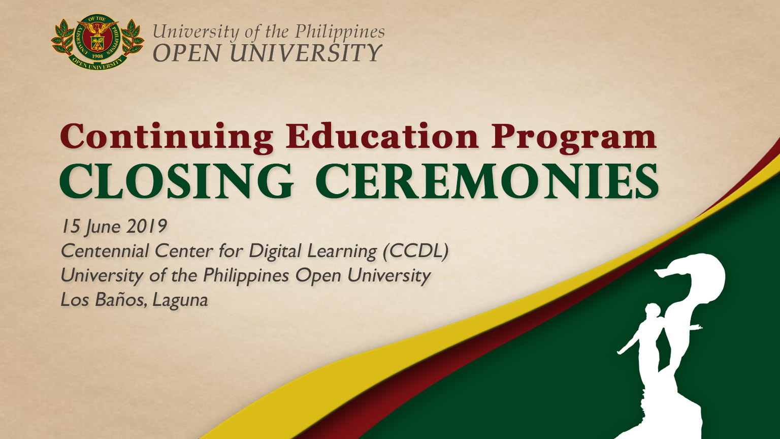 Continuing Education Program Closing Ceremonies
