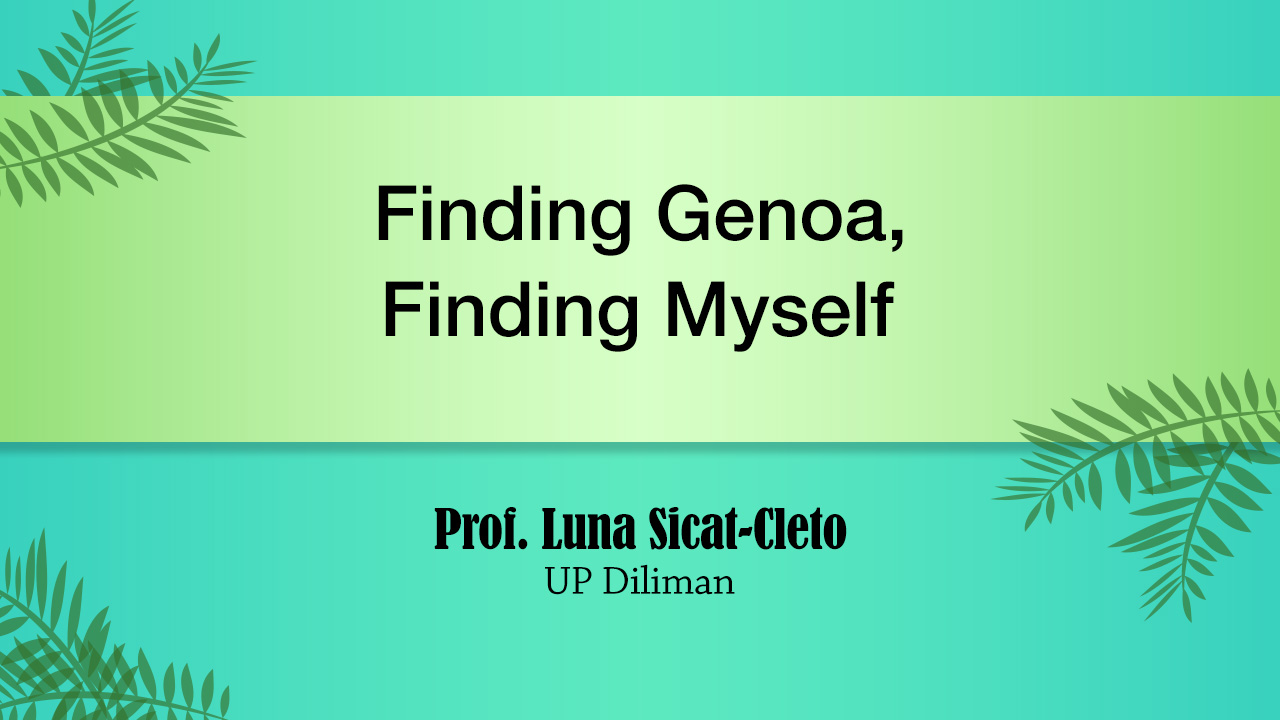 Finding Genoa, Finding Myself