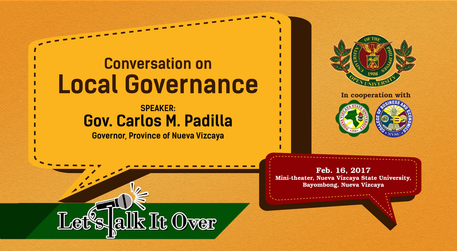 Conversation on Local Governance with Governor Carlos M. Padilla