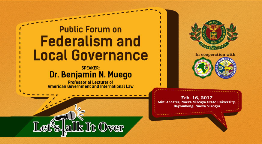 Public Forum on Federalism and Local Governance | Dr. Benjamin N. Muego