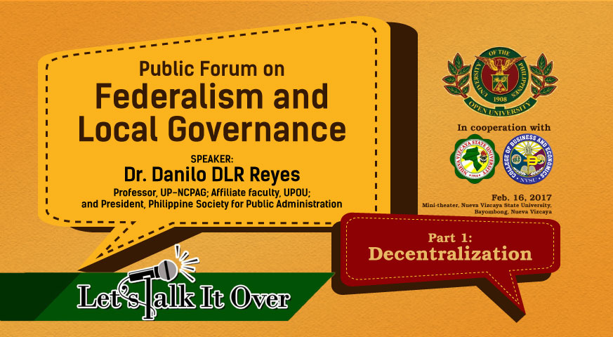 Public Forum on Federalism and Local Governance (Part 1) | Dr. Danilo DLR Reyes