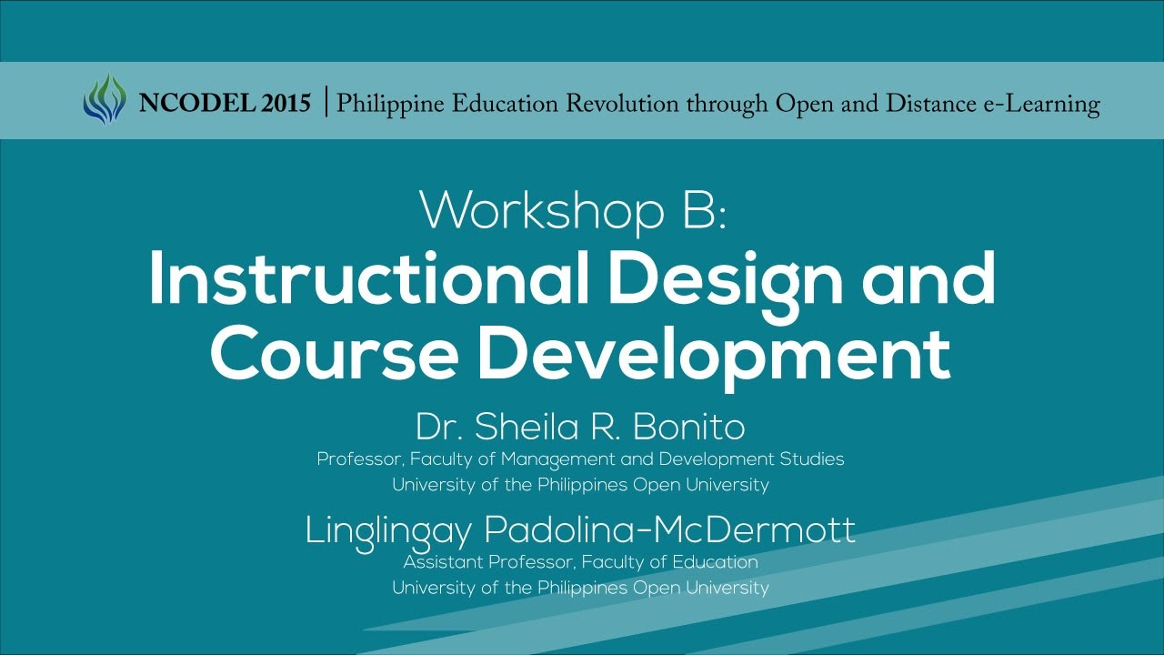 Workshop B- Instructional Design and Course Development