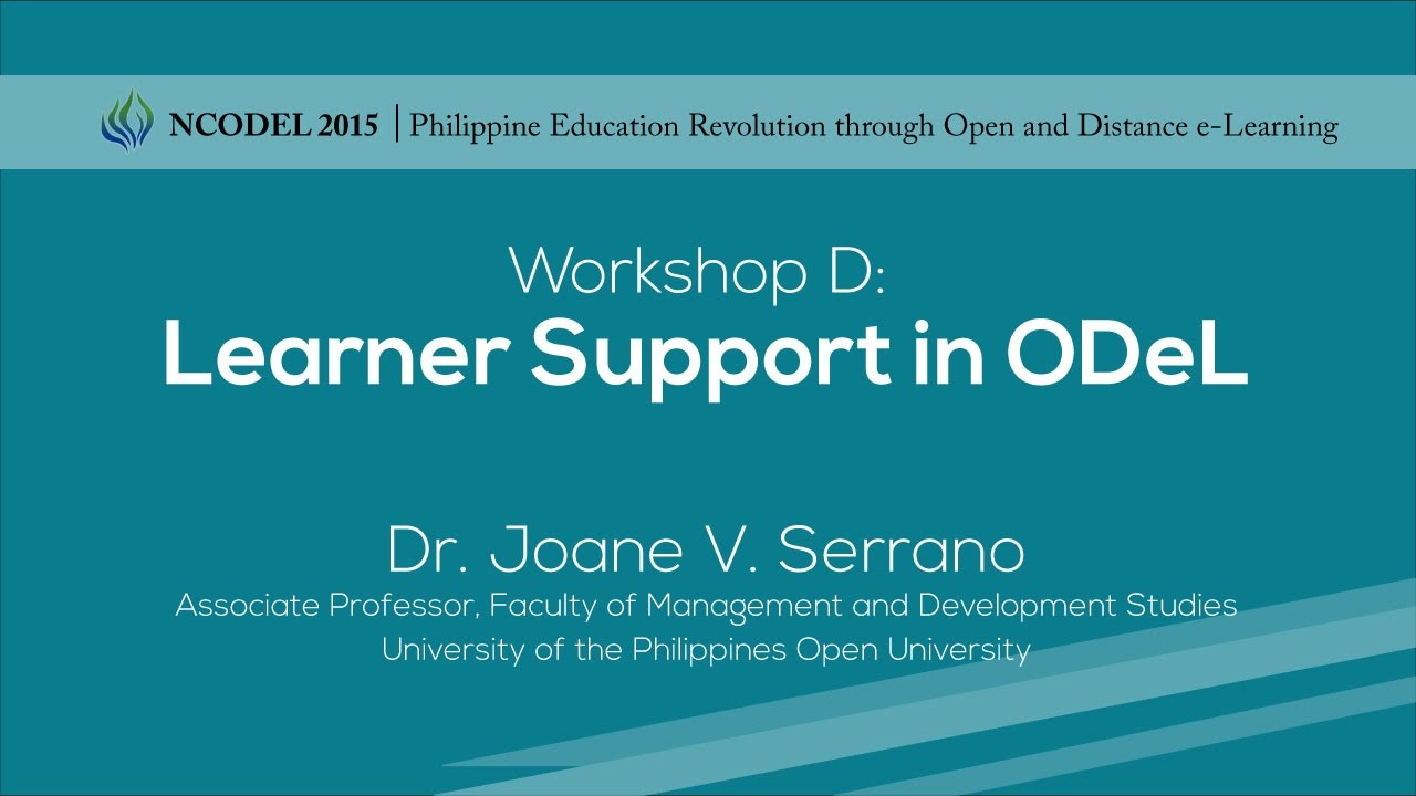 Workshop D: Learner Support in ODeL
