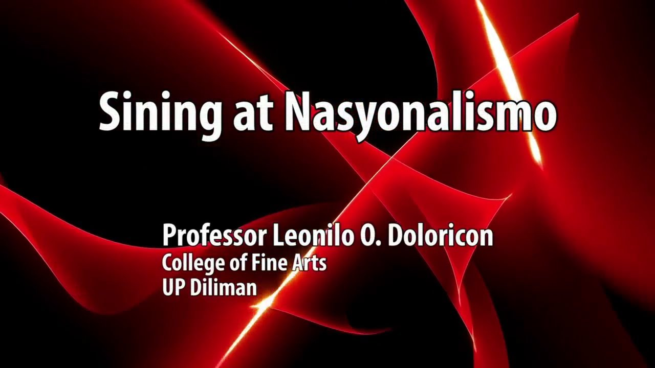 UP TALKS | Sining at Nasyonalismo