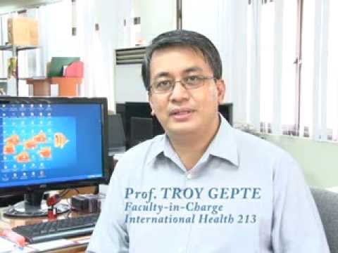International Health 213: Dr. Troy Gepte