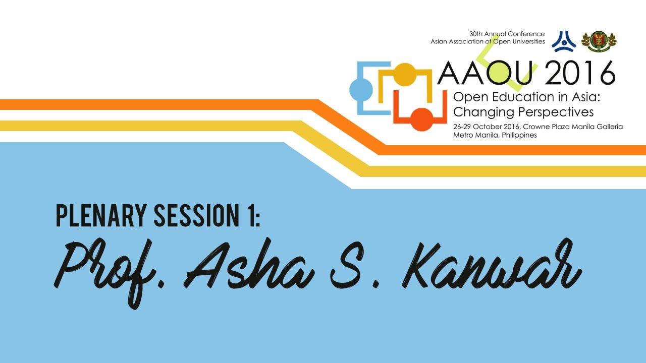 Plenary Session 1: Prof. Asha S. Kanwar