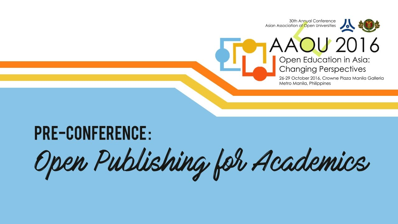 Pre-Conference: Open Publishing for Academics