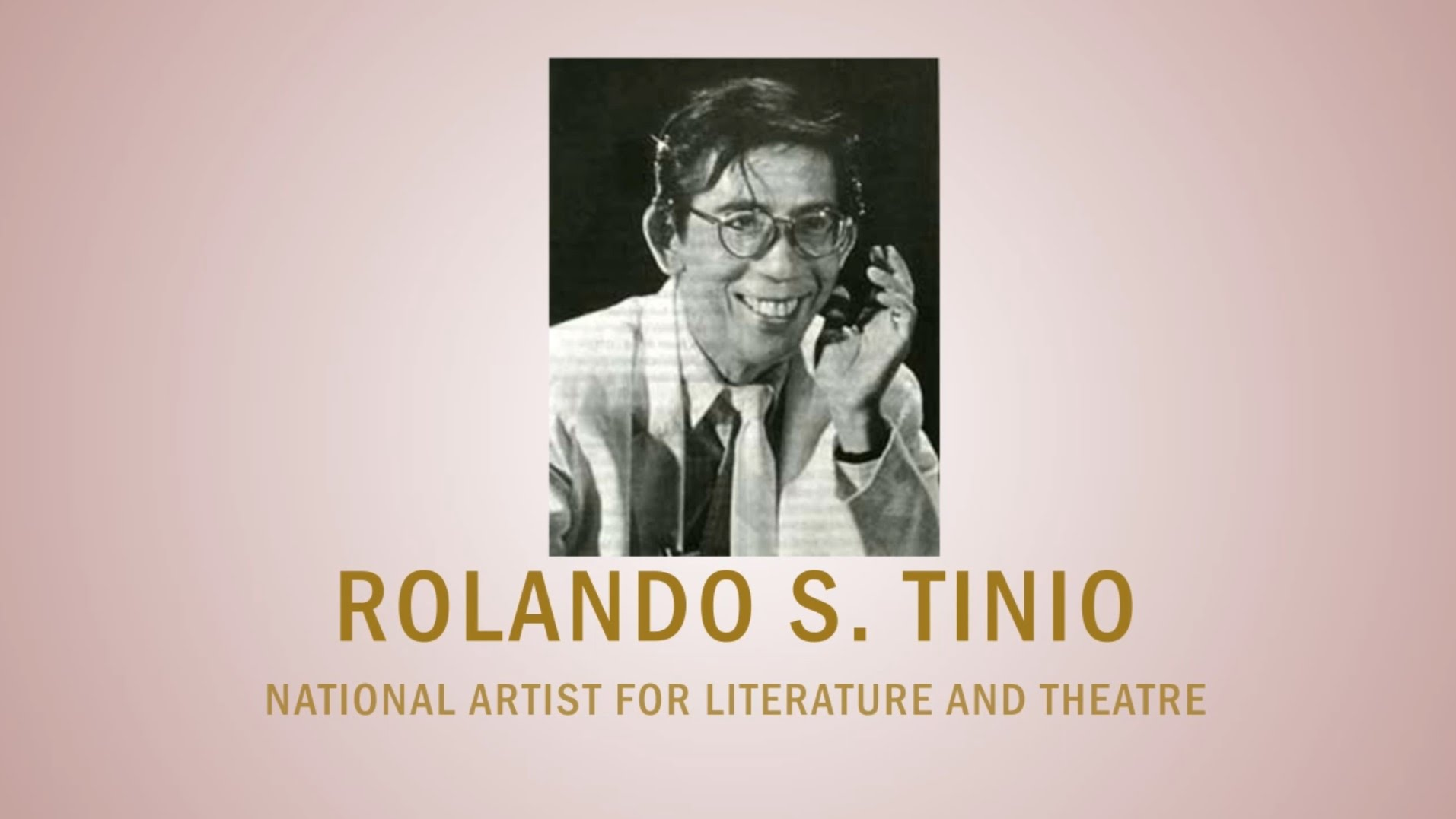 PAGPUPUGAY: A Tribute to National Artist Rolando S. Tinio