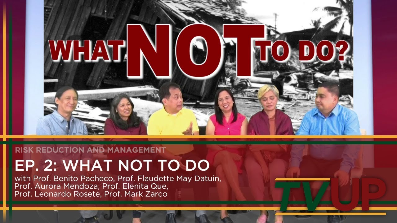 RISK REDUCTION AND MANAGEMENT | Episode 02: What NOT to Do