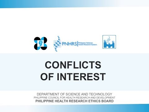 Basic Research Ethics Training: Conflicts of Interests | Prof. Fatima Castillo
