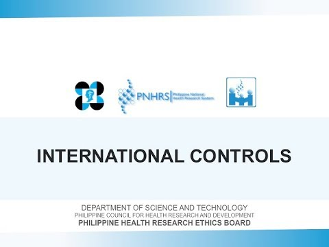 Basic Research Ethics Training: International Controls | Dr. Leslie Dalmacio