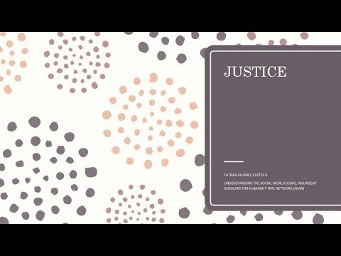 Basic Research Ethics Training: Justice | Prof. Fatima Castillo