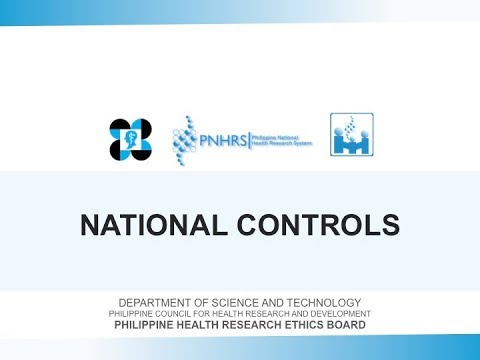 Basic Research Ethics Training: National Controls | Dr. Leslie Dalmacio