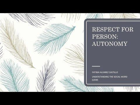 Basic Research Ethics Training: Respect for Person | Prof. Fatima Castillo