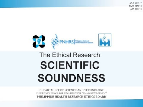 Basic Research Ethics Training: Scientific Soundness | Dr. Leslie Dalmacio