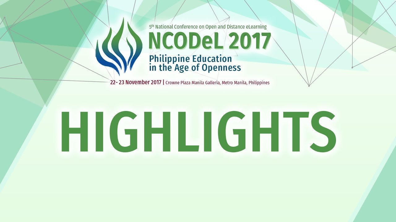 NCODeL 2017 Highlights