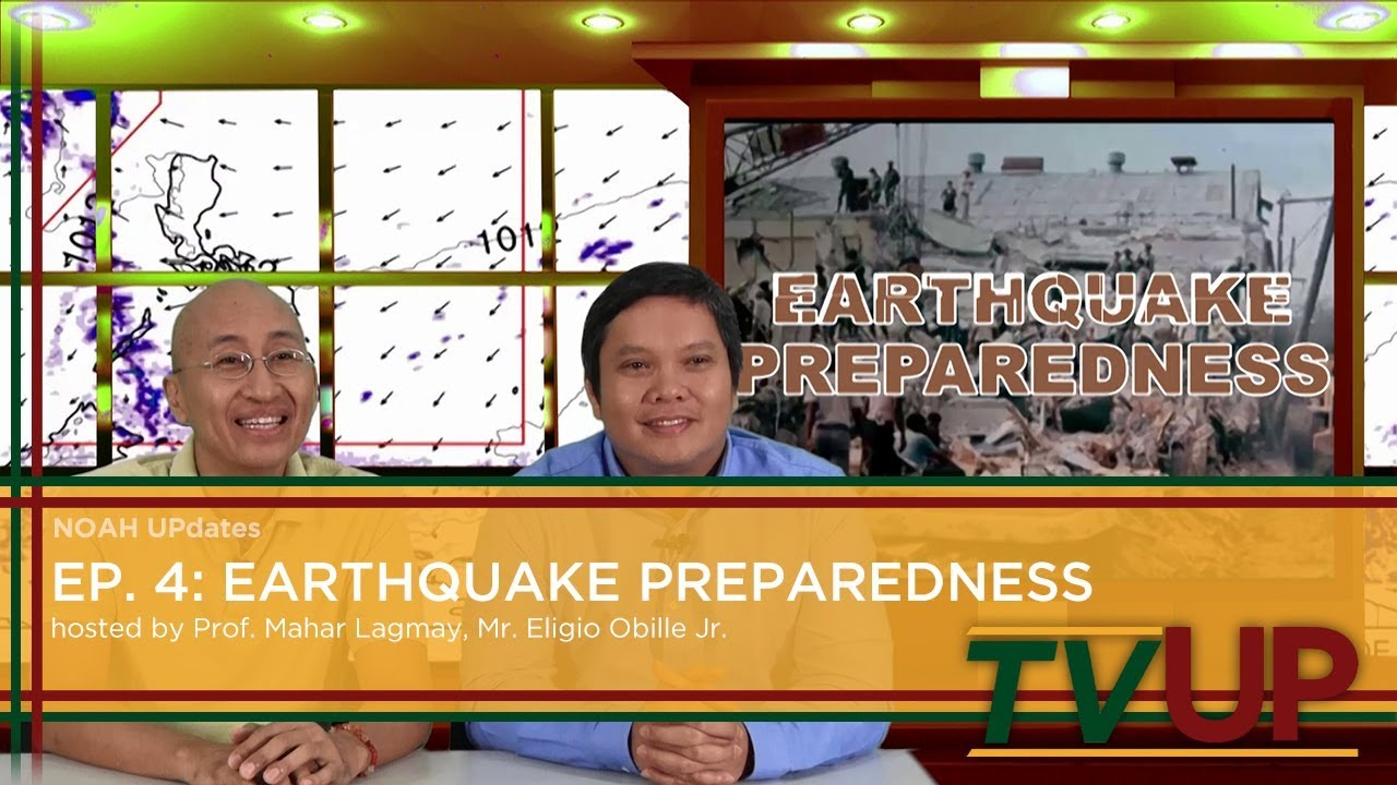 NOAH UPdates | Episode 04: Earthquake Preparedness | Prof. Mahar Lagmay and Mr. Eligio Obille, Jr.