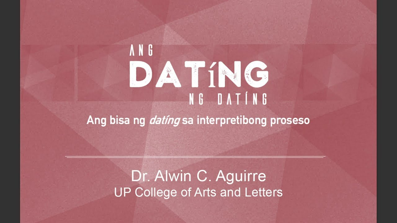 UP TALKS | Ang Dating ng Dating | Prof. Alwin Aguirre
