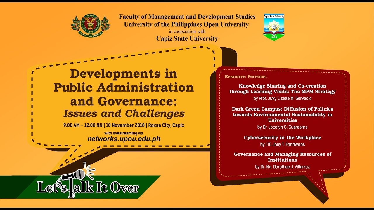 Developments in Public Administration and Governance: Issues and Challenges