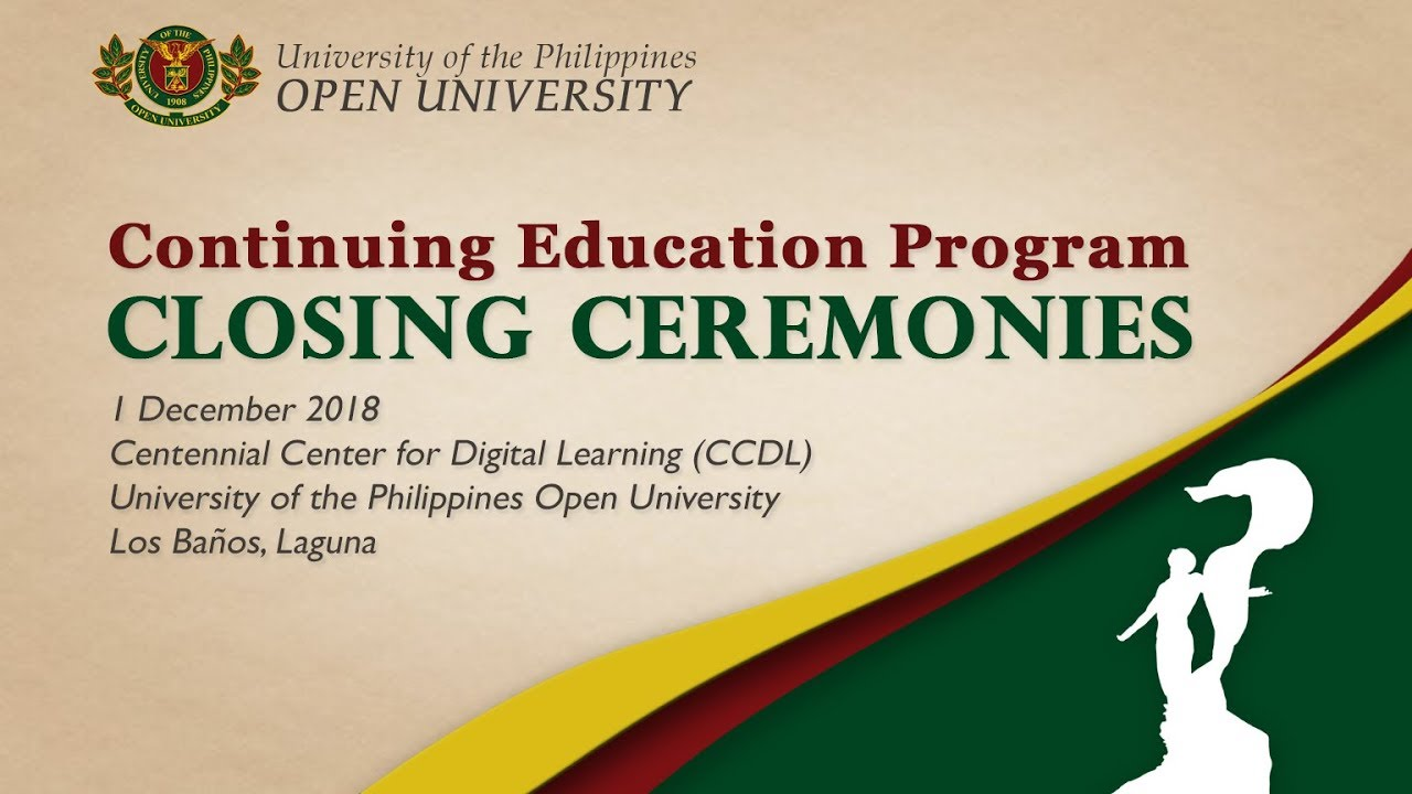 Continuing Education Program Closing Ceremonies (01 Dec 2018)