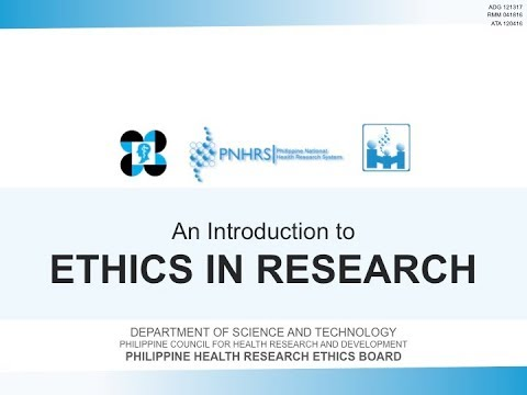 Basic Research Ethics Training: Introduction to Ethics in Research | Dr. Leslie Dalmacio