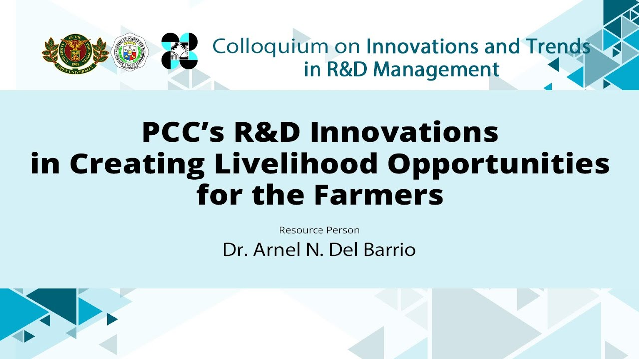 PCC's R&D Innovations in Creating Livelihood Opportunities for the Farmers