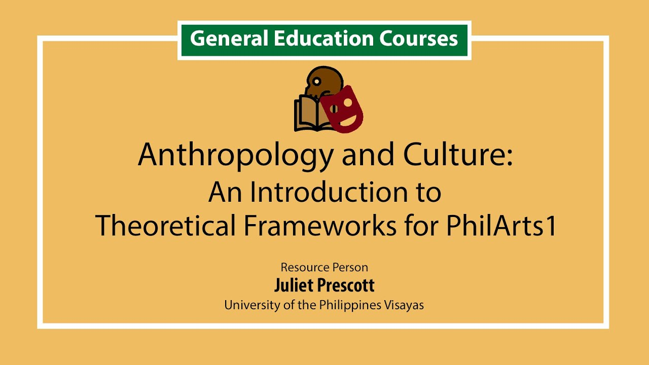 Anthropology and Culture  An Introduction to Theoretical Frameworks for PhilArts 1 | Ms. Julie Prescott