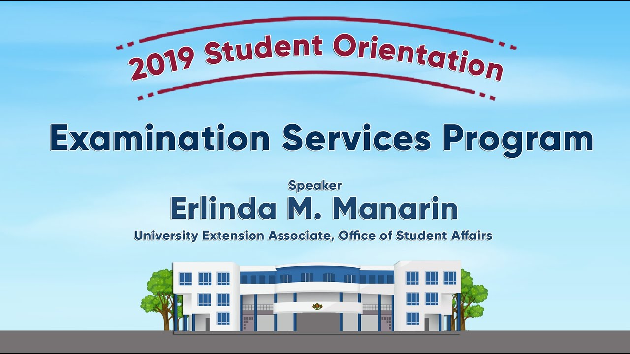Examination Services Program | Ms. Erlinda M. Manarin