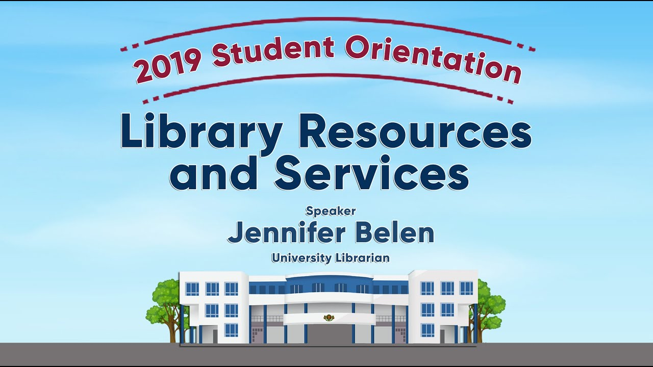 Library Resources and Services | Ms. Jennifer Belen