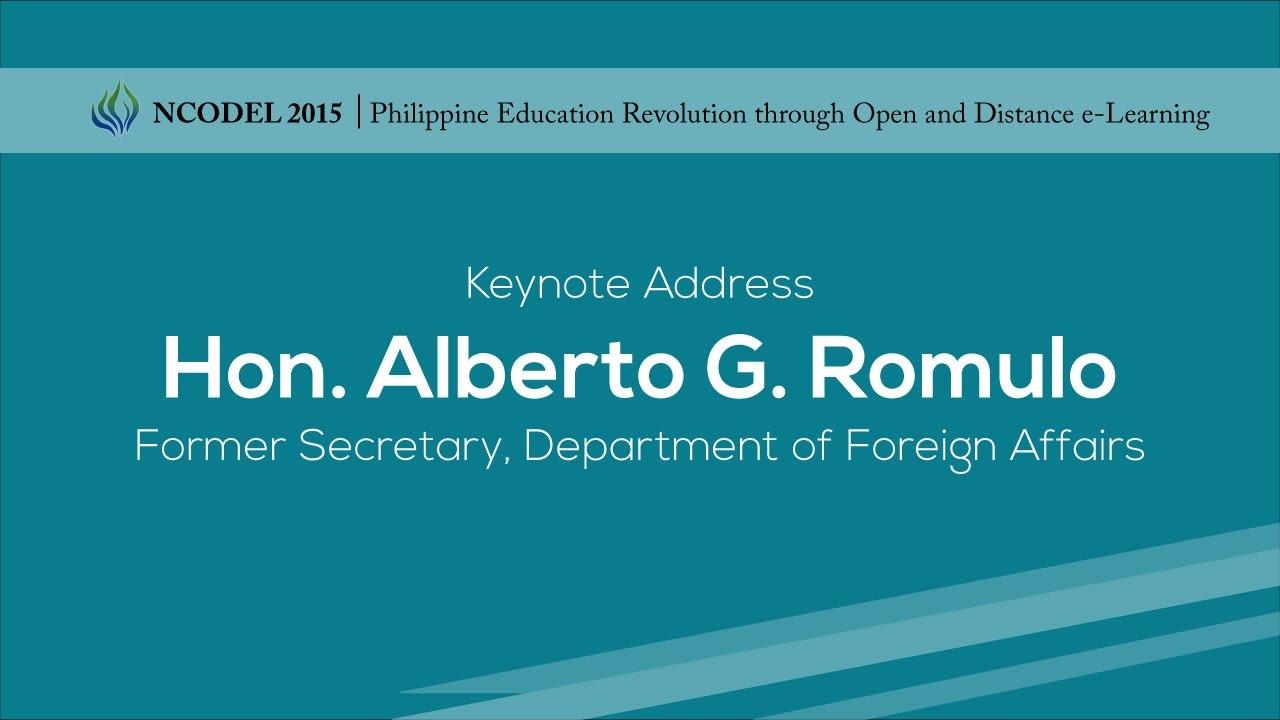 Message | Hon. Alberto G. Romulo