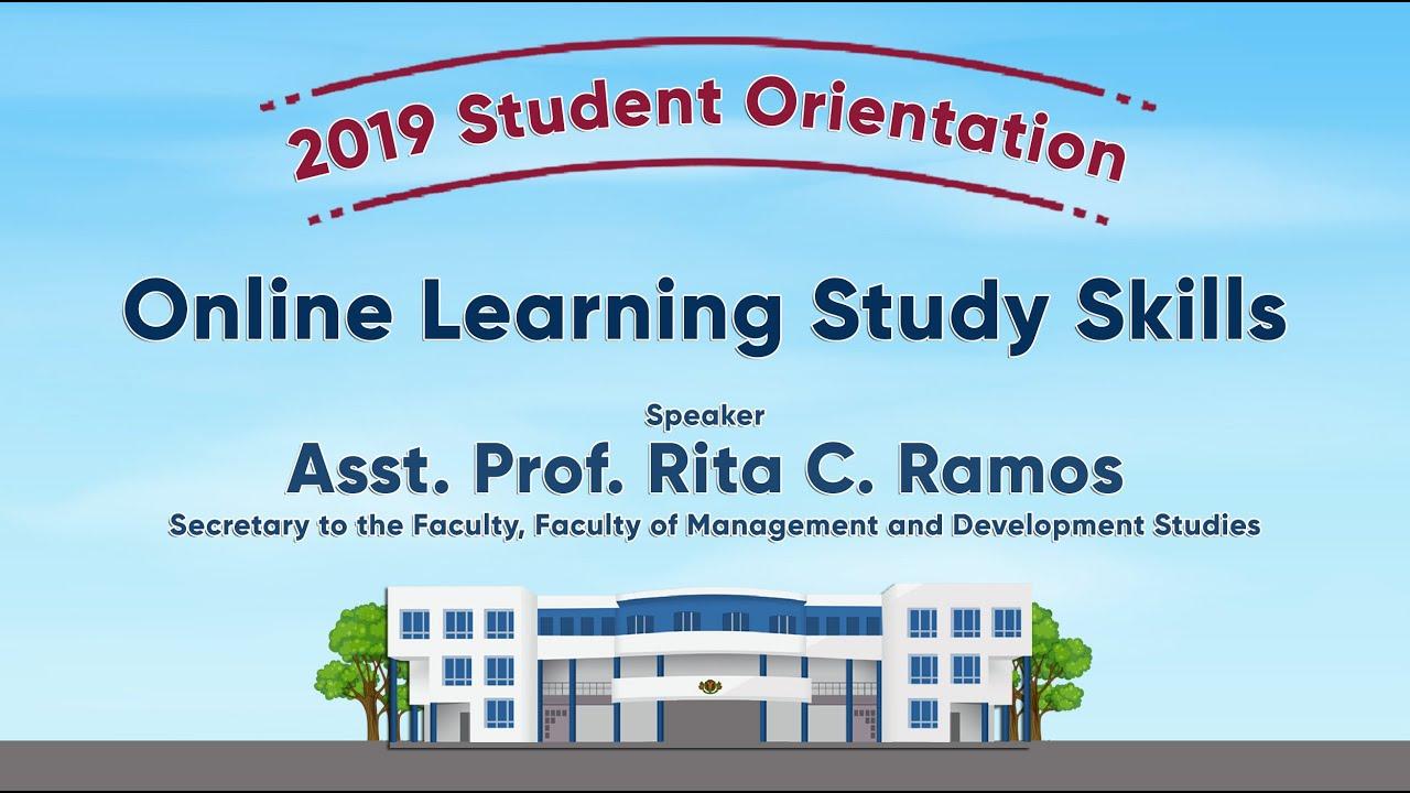 Online Learning Study Skills | Asst. Prof. Rita C. Ramos