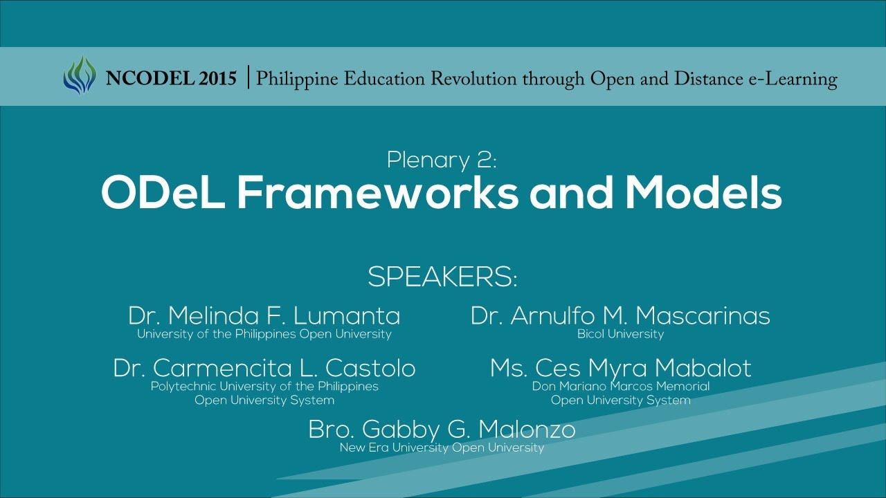 Plenary 2: ODeL Frameworks and Models | Part 1