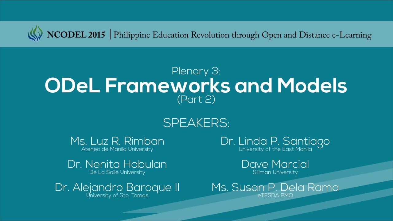 Plenary 3: ODeL Frameworks and Models | Part 2