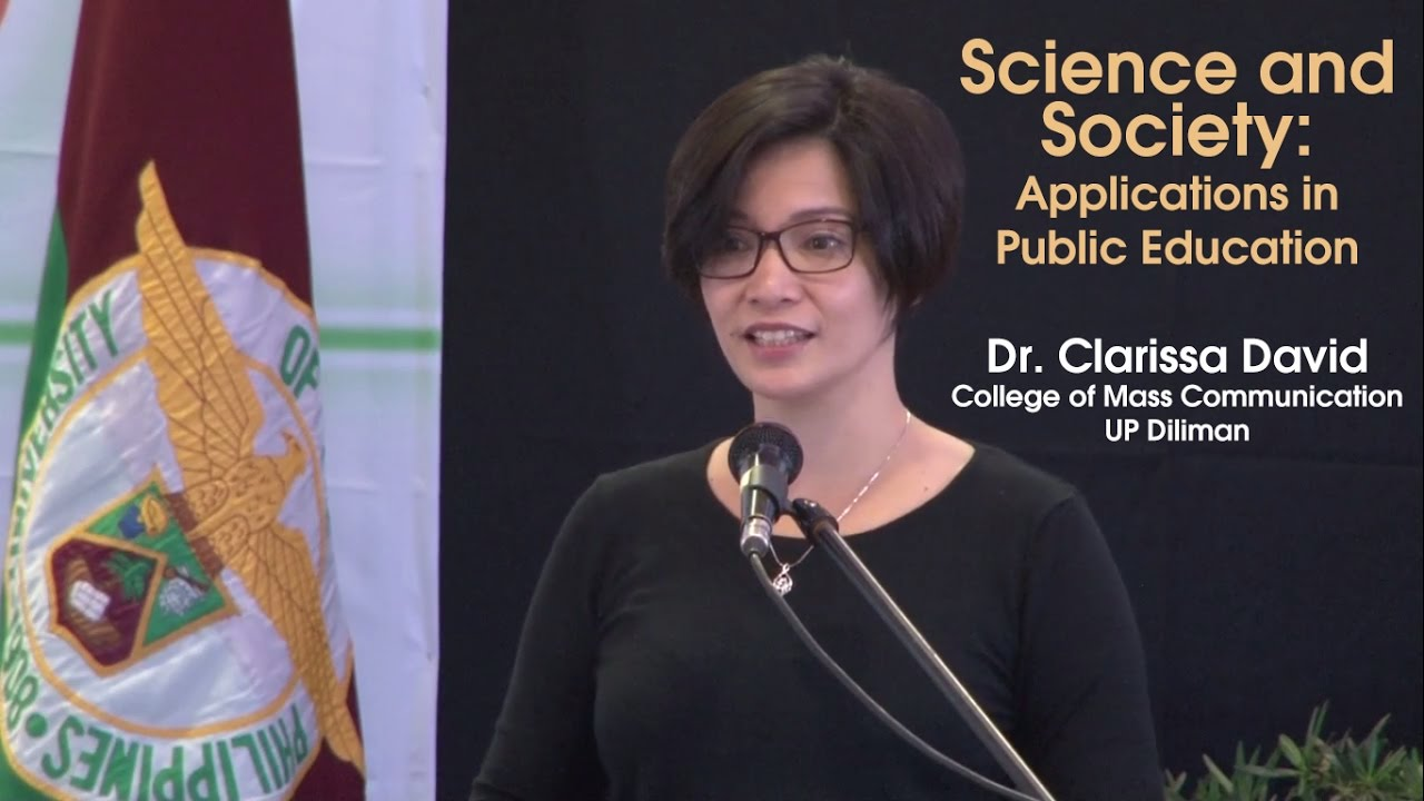 Science and Society: Applications in Public Education | Dr. Clarissa David