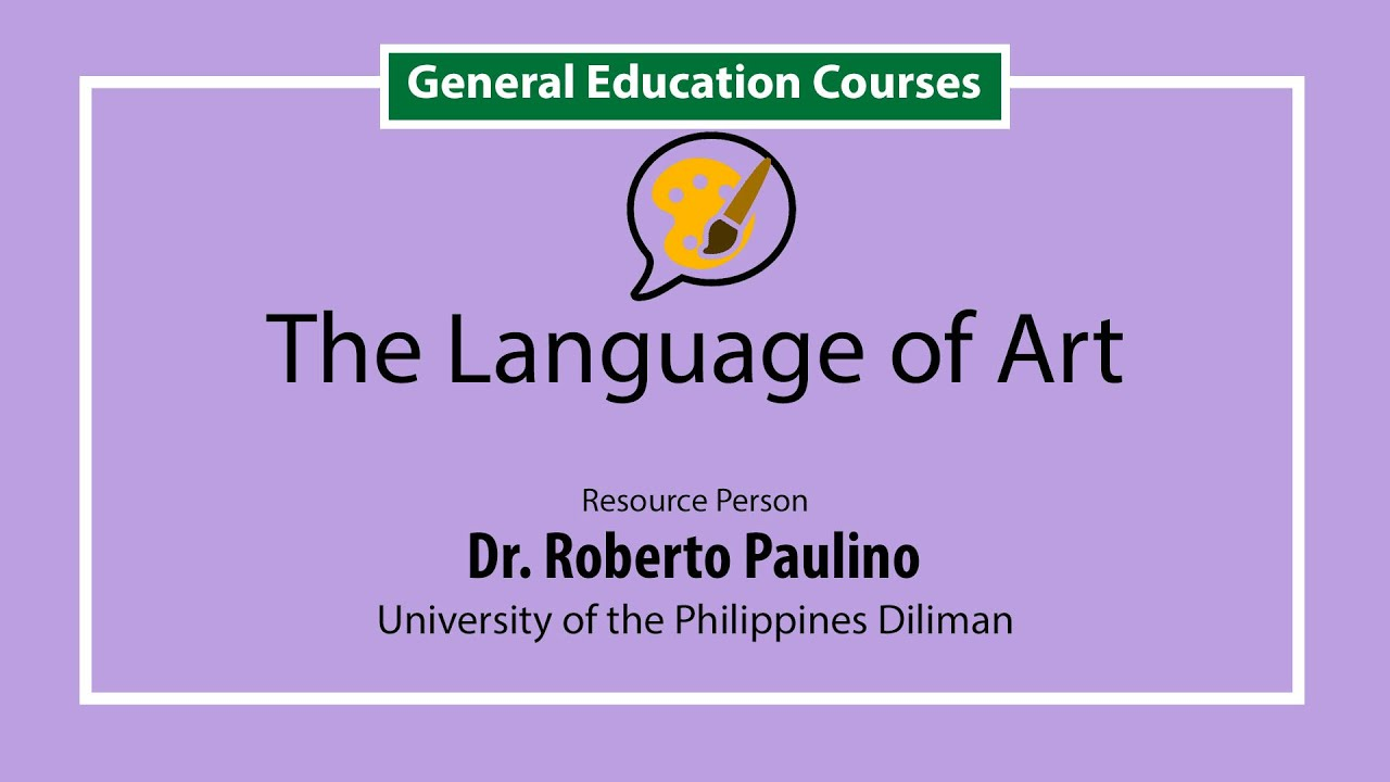 The Language of Art | Dr. Roberto Paulino