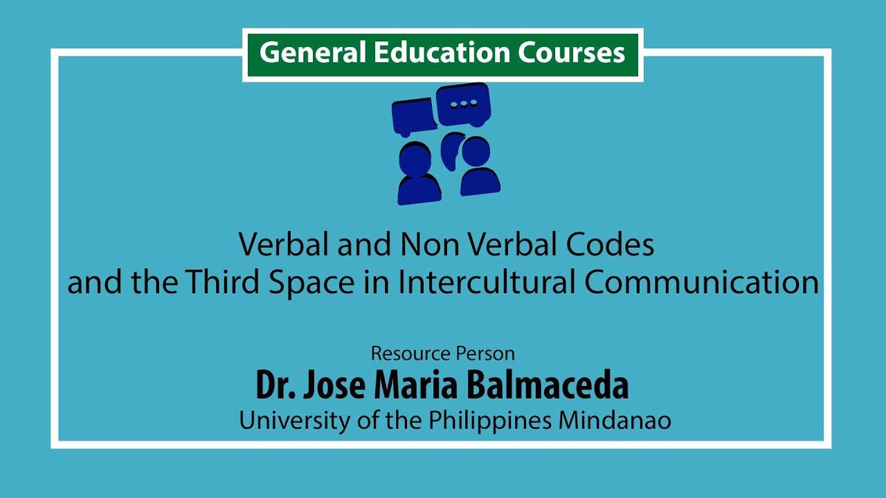 Verbal and Non verbal Codes and the Third Space in Intercultural Communication | Prof. Nelfa Glova