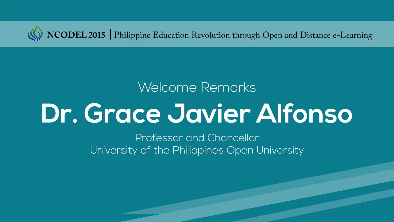 Welcome Remarks | Dr. Grace Javier Alfonso