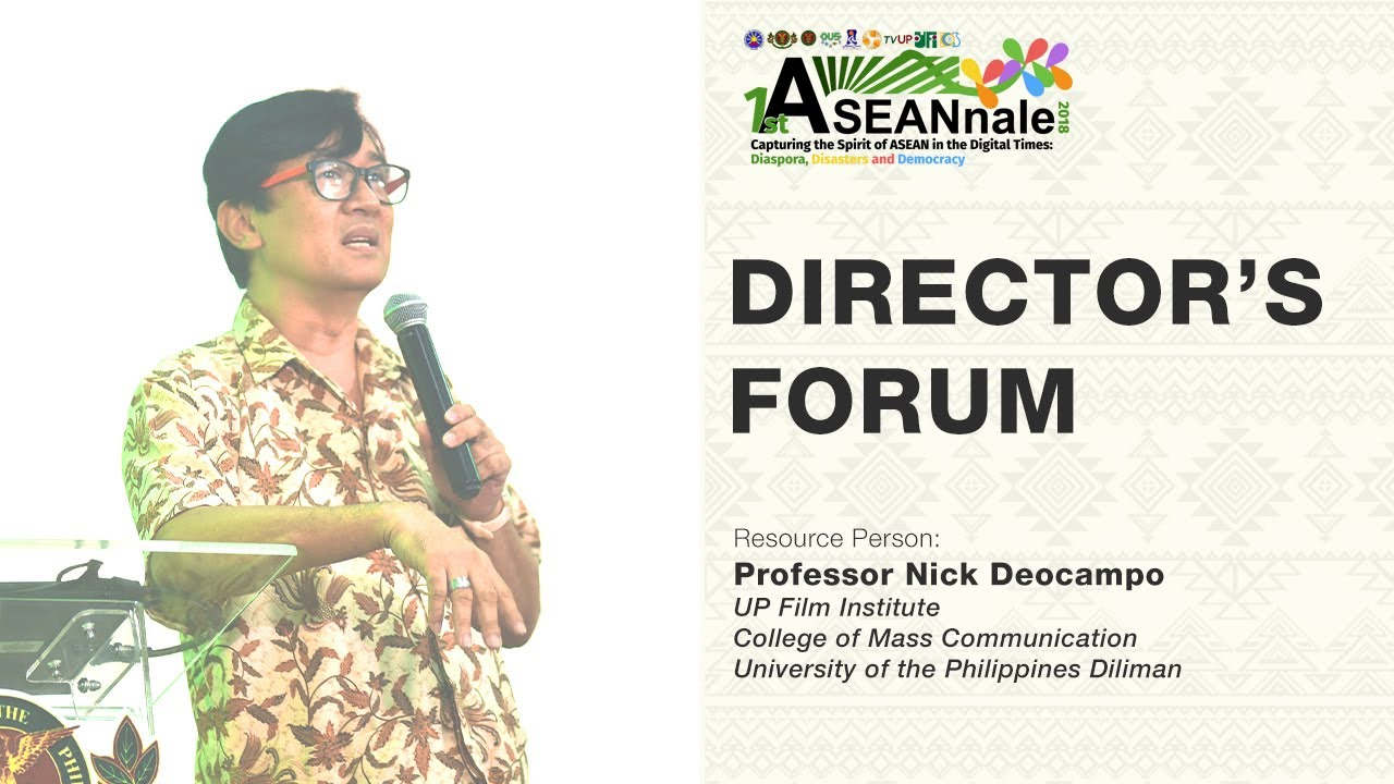 Director's Forum| Prof. Nick Deocampo