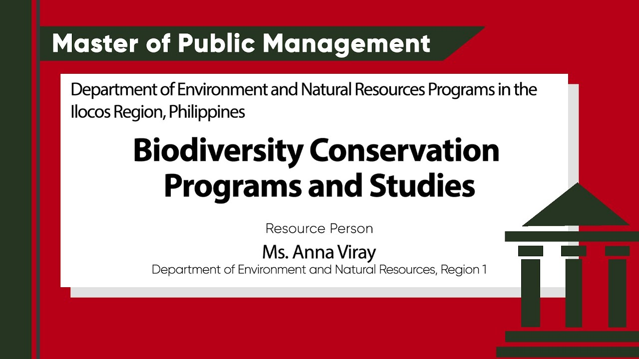 Biodiversity Conservation Programs and Studies | Ms. Anna Viray