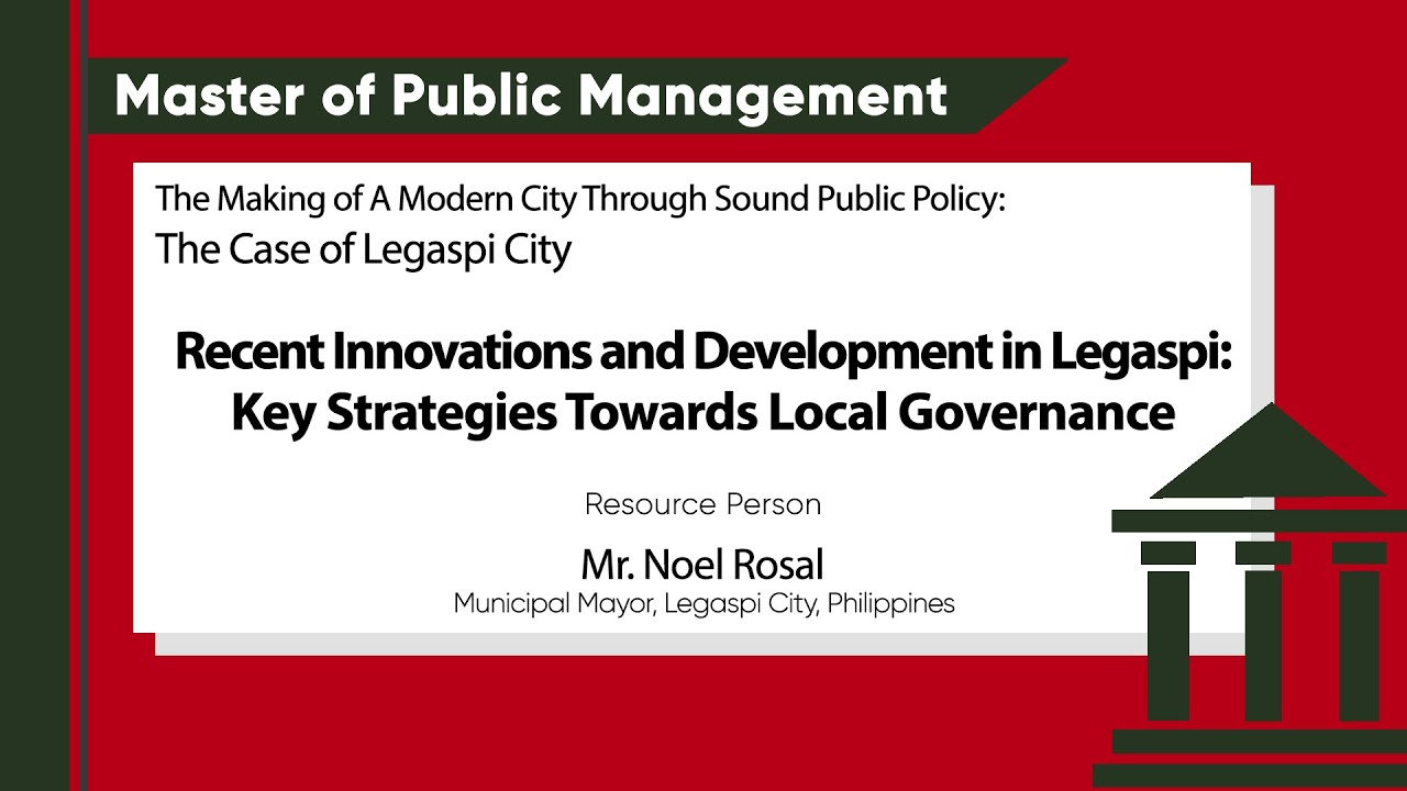 Key Strategies Towards Local Governance | Mr. Noel Rosal