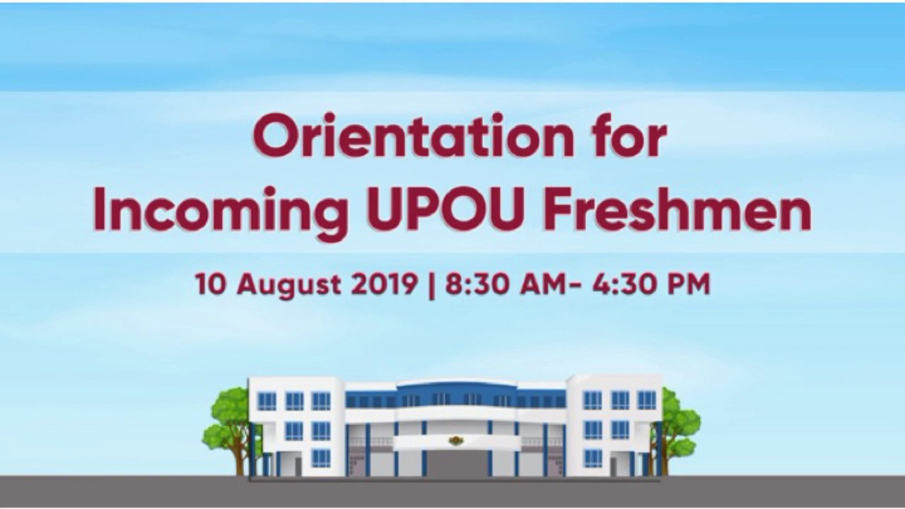 Orientation for Incoming UPOU Freshmen (Afternoon Session)