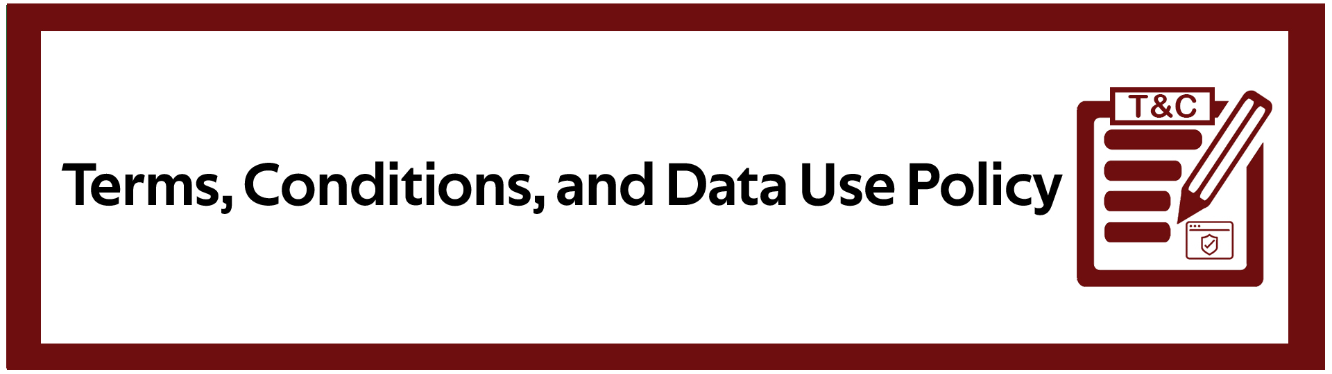 Terms, Conditions, and Data Use Policy