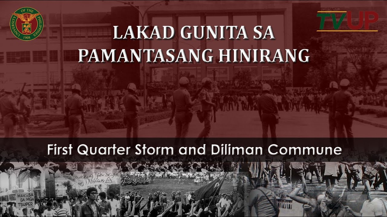 Lakad Gunita sa Pamantasang Hinirang: First Quarter Storm and Diliman Commune
