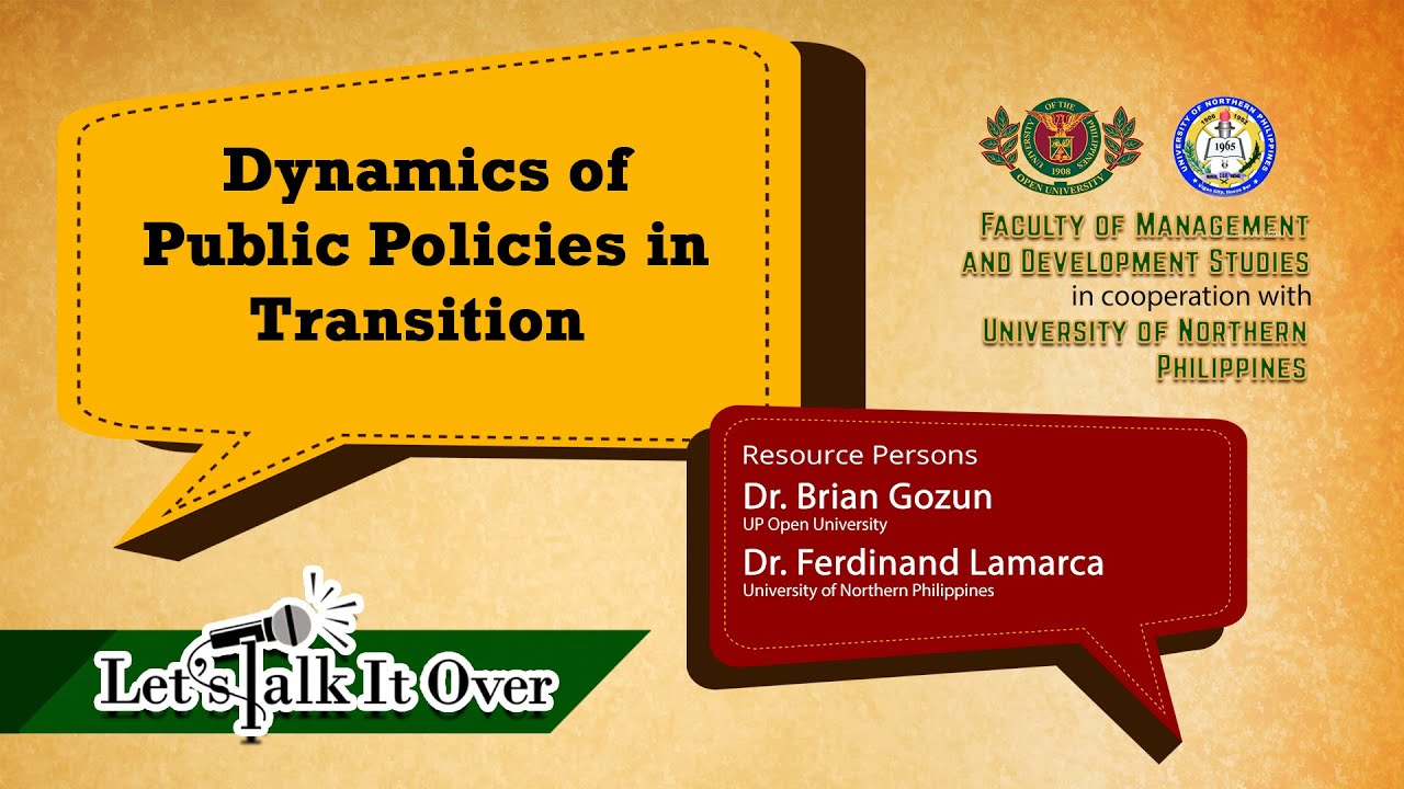 Let's Talk It Over: Dynamics of Public Policies in Transition (Livestream)
