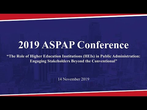 2019 Association of School of Public Administration in the Philippines Conference – Part 1