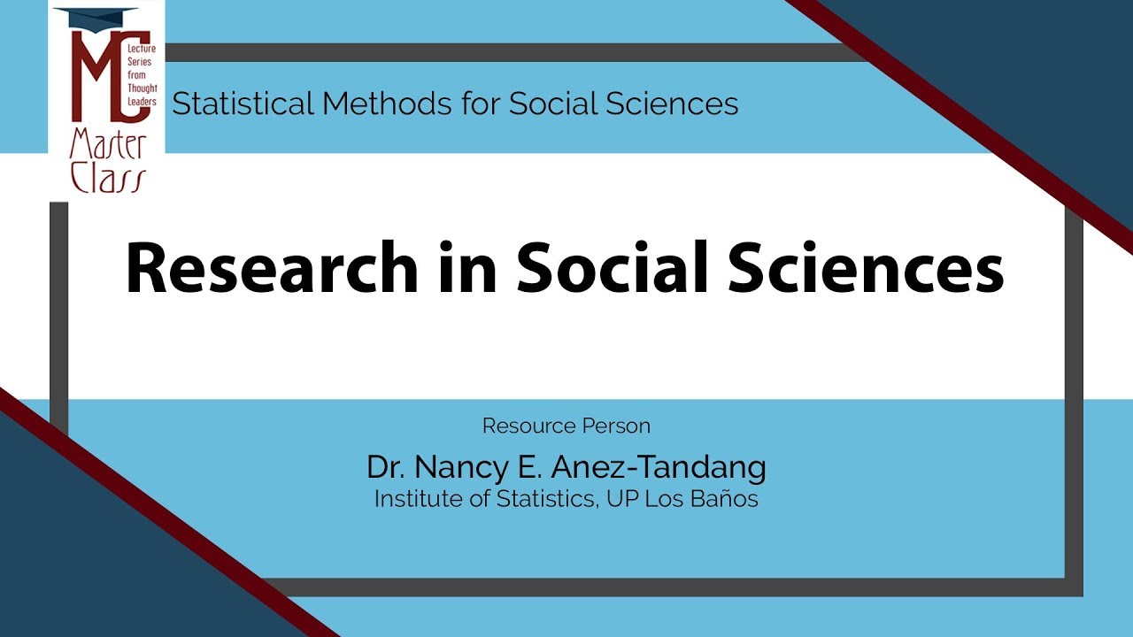 Research in Social Sciences | Dr. Nancy E. Añez-Tandang
