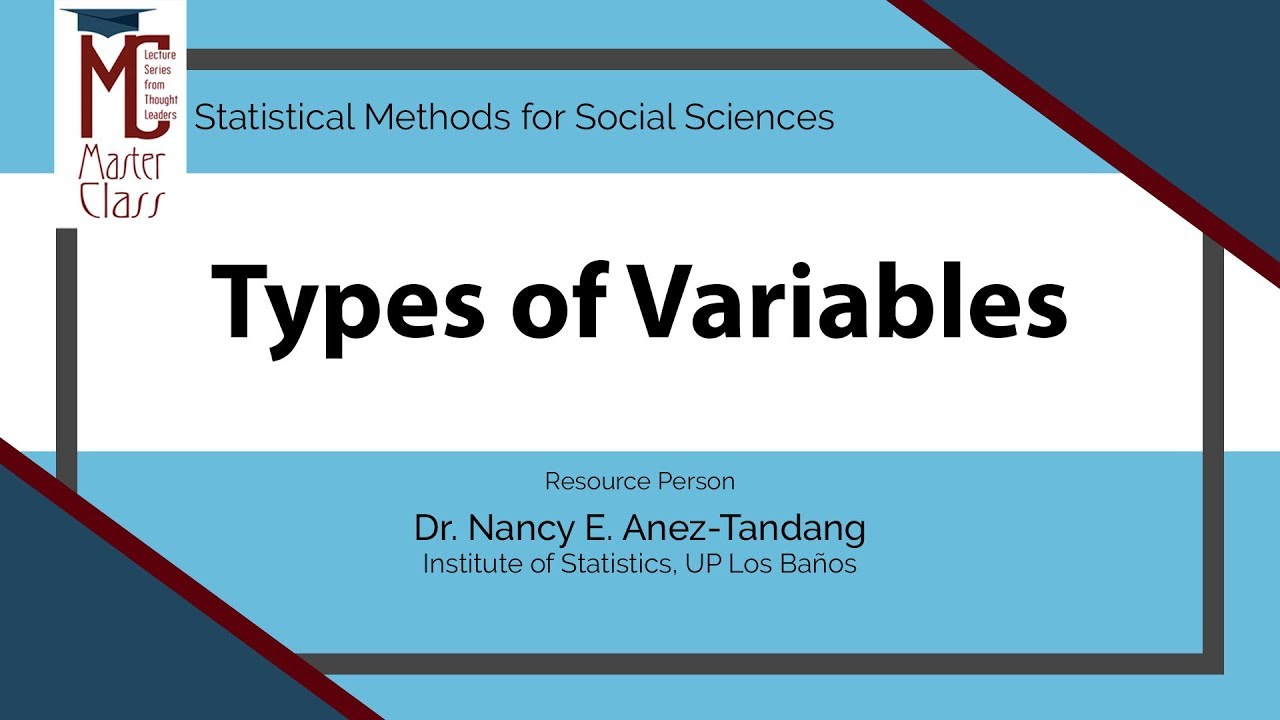 Types of Variables | Dr. Nancy E. Añez-Tandang