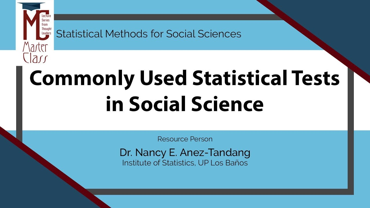 Commonly Used Statistical Tests in Social Science | Dr. Nancy E. Añez-Tandang