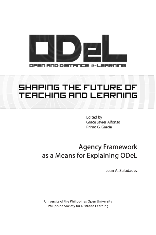 Agency Framework as a Means for Explaining ODeL | Dr. Jean Saludadez
