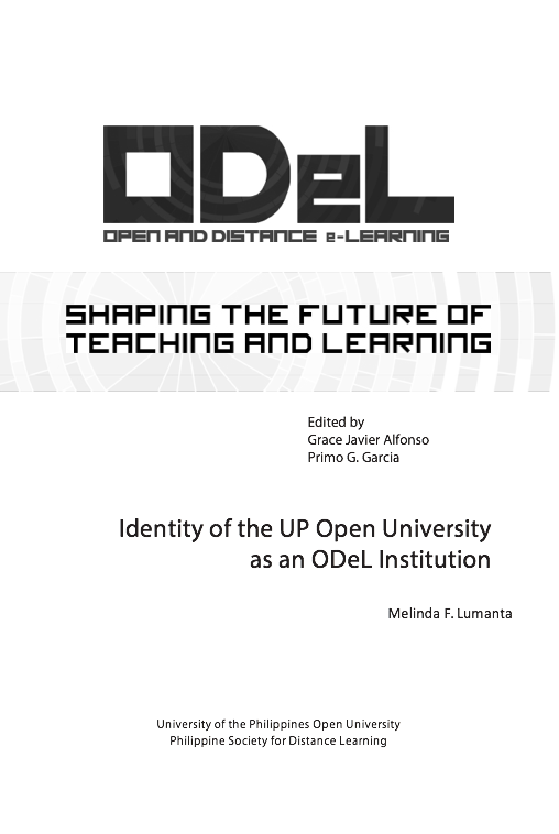 Identity of the UP Open University as an ODeL Institution Melinda F. Lumanta